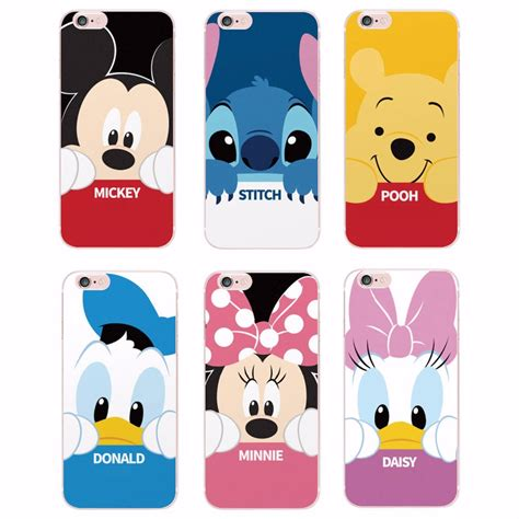 Disney Big Donald Softcase For Iphone 55s66s66s minnie mickey donald duck stitch piglet phone printed cover for