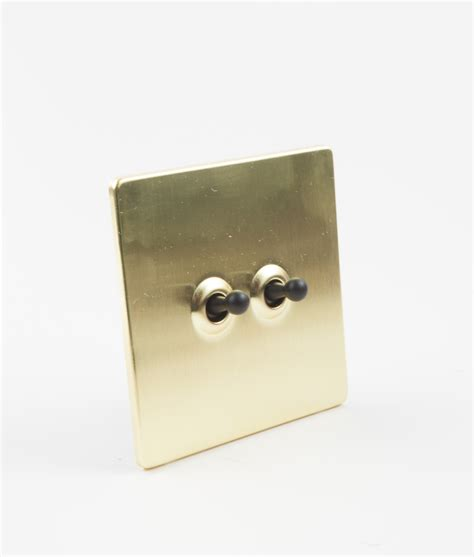 toggle light switch 2 toggle gold black designer light