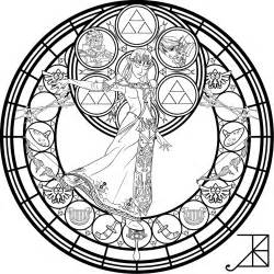 stained glass zelda coloring akili amethyst