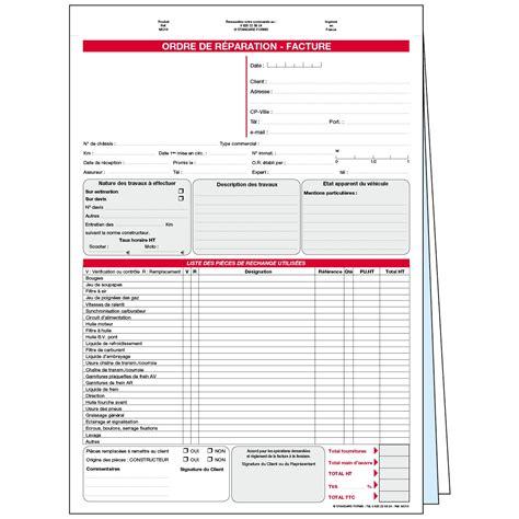 Modele Ordre De Reparation Moto ordre de rparation en liasse mo10sp