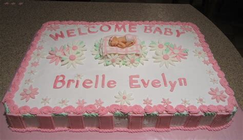 Baby Shower Sheet Cake Ideas by Welcome Baby 1 2 Sheet Cake Celebrating The Arrival Of