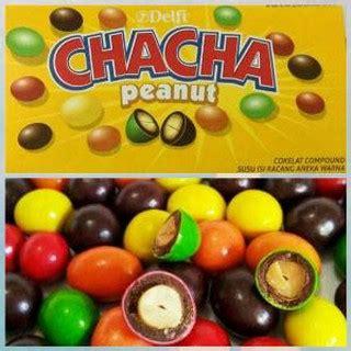 Cha Cha Permen Coklat delfi chacha cha cha milk rasa coklat kacang box isi