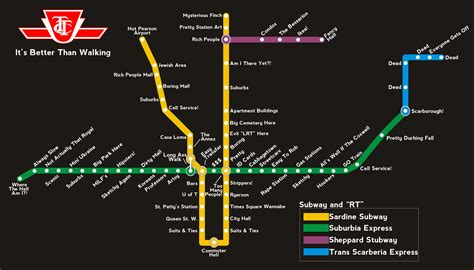 Toronto Metro Map by How I See The Ttc Subway Map Toronto