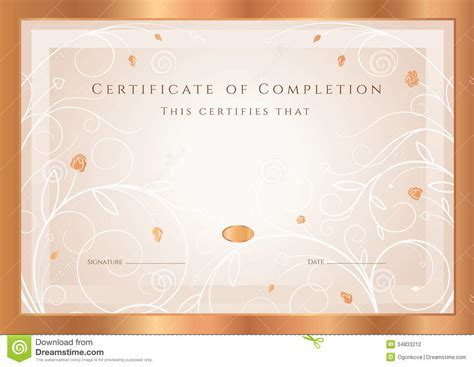 floral design certificate edmonton certificate diploma award template frame stock photo