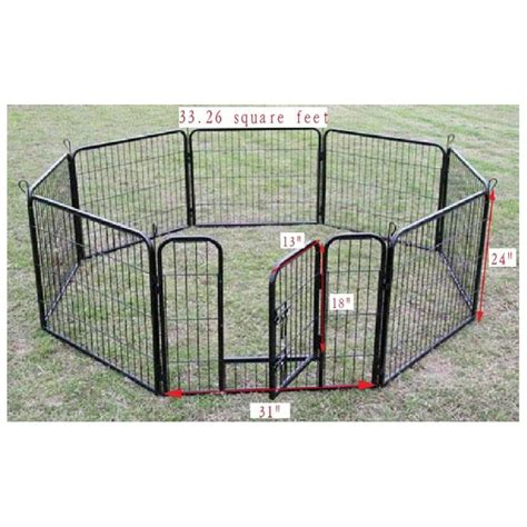 puppy playpen 40 quot heavy duty pet playpen exercise pen cat fence b rakuten