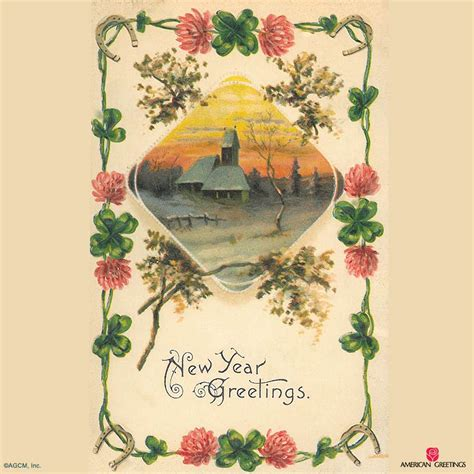 Vintage New Years Cards vintage new years cards american greetings archives