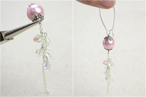 Make Handmade Earrings - diy vintage jewelry handmade earrings with pearl lantern