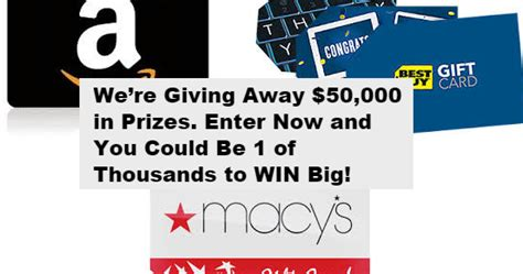 Macy S Instant Win - coupons and freebies 10 50 amazon best buy or macy s gift card instant win
