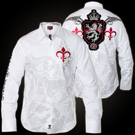 rebel spirit ls shirt lsw131559 shirt with print flock