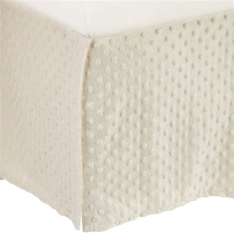 Ecru Crib Skirt by American Baby Company Heavenly Soft Minky Dot Tailored