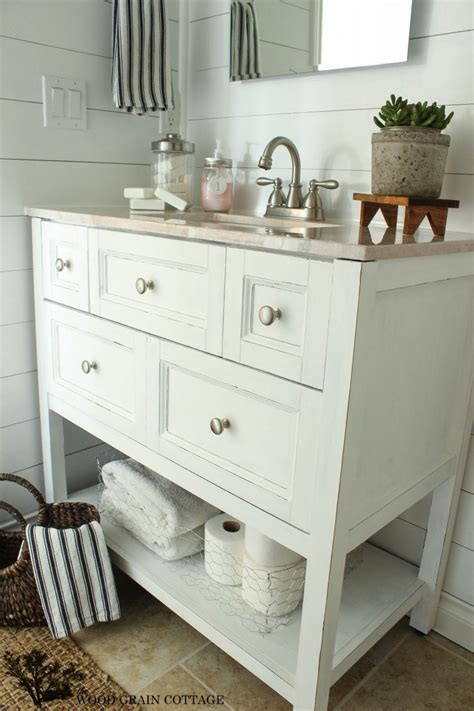 Powder Bath Vanity Powder Bathroom Vanity Makeover The Wood Grain Cottage