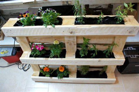 pallet vertical flower garden or planter pallet
