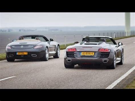 Audi Sls by Mercedes Sls Roadster Vs Audi R8 Spyder