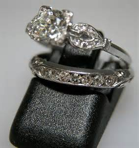 antique style wedding ring sets the wedding