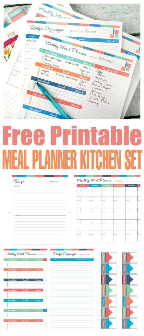 free printable meal planning ideas best 25 meal planning printable ideas on pinterest free