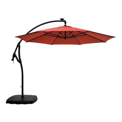 allen and roth ls allen roth 11 ft offset tilt umbrella with solar led