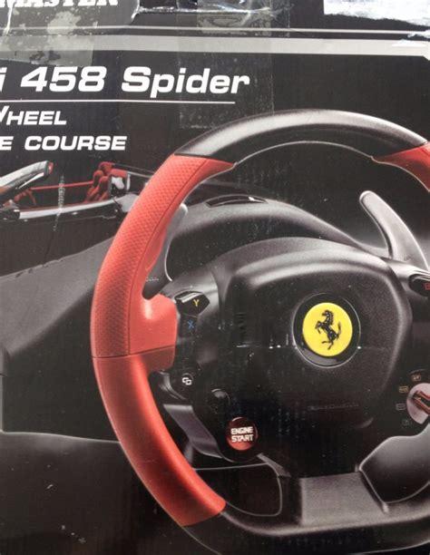 Buy Thrustmaster Spider Racing Wheel Thrustmaster Racing Wheel 458 Spider Edition Xbox