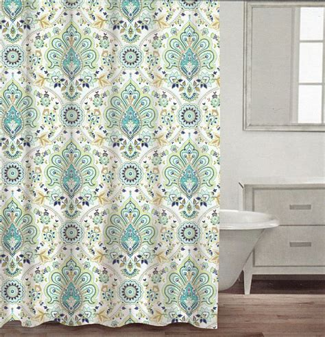 navy fabric shower curtain com caro home 100 cotton shower curtain floral