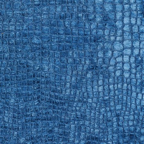 Alligator Upholstery Fabric by Blue Alligator Print Shiny Woven Velvet Upholstery Fabric By The Yard