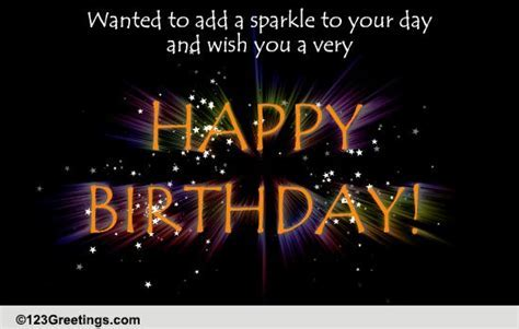 A Birthday Sparkler. Free Happy Birthday eCards, Greeting