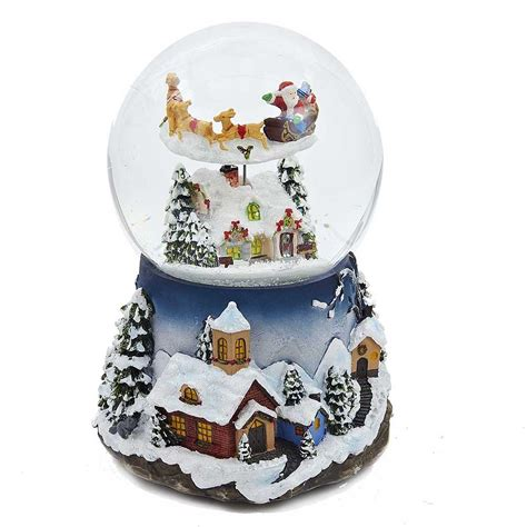battery operated snow globes christmas santa claus snow globes wikii