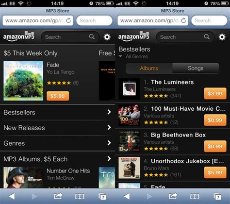 download mp3 from web to iphone amazon releases a new mp3 web store for ipod touch and