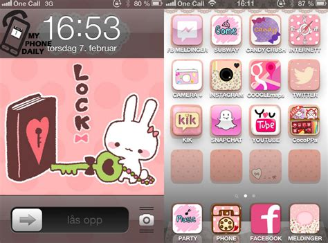 cute themes for myphone cocoppa the cute phone editor my phone daily