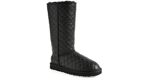 Ugg Quilted Boots by Ugg Ugg Classic Quilted Boot In Black Lyst