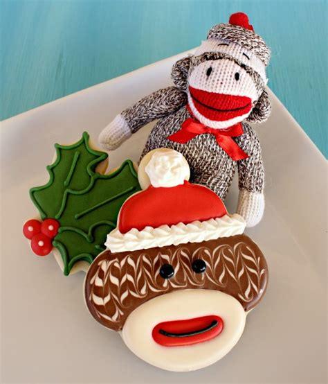 monkey santa cookie socks images