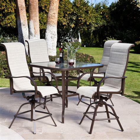 Patio Table Height Counter Height Outdoor Swivel Chairs Chairs Seating