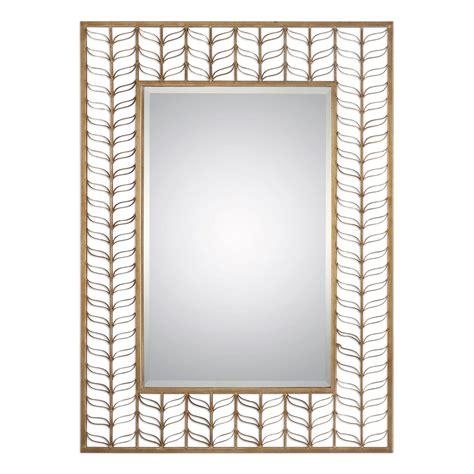 pattern mirror frame phyllida artistic rectangular mirror with gold leaf