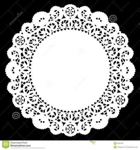 round lace doily white royalty free stock image image
