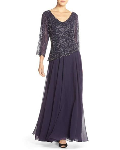 j kara beaded chiffon gown new j kara embellished beaded v neck chiffon gown dress