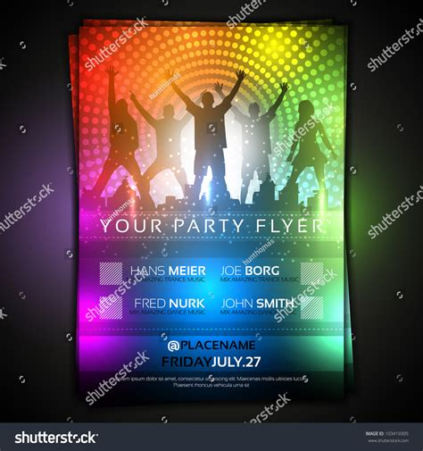 colorful party flyer template fully editable vector design  shutterstock