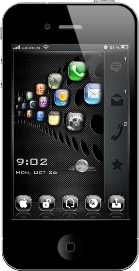 temas para iphone tema para iphone 4 istain carbon