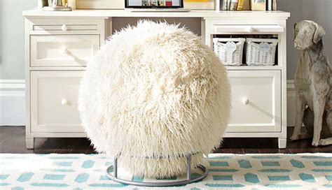 Faux fur covered exercise ball desk chair is a real thing you can buy philadelphia magazine