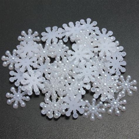 white snowflake decorations 50pcs white snowflake shaped flat resin back decoration