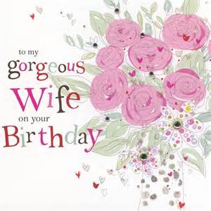 hand finished wife birthday card karenza paperie