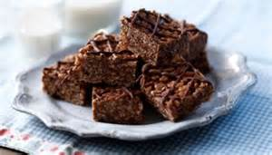 food recipes chocolate crispy cakes
