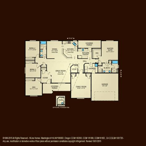 floorplan 2576 hiline homes