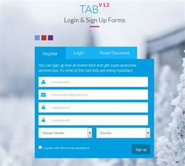 html template for login page html5 signup registration forms 20 free html css
