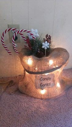 lighted burlap bags  projects  pinterest