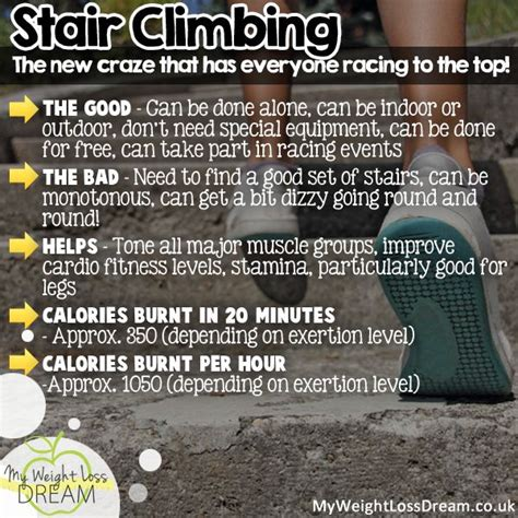 go for stair climbing exercises to help you lose weight