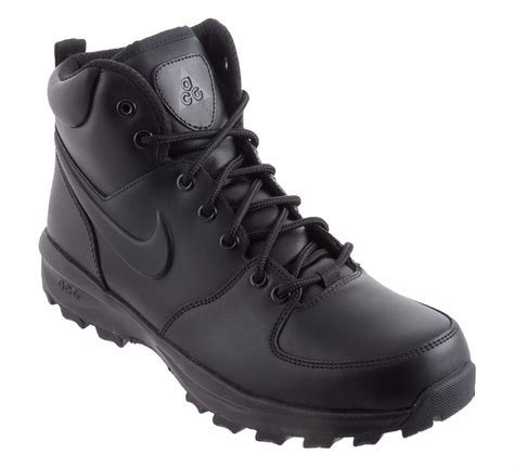s nike acg manoa leather boots black black winter