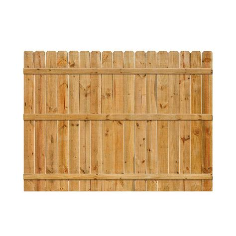 6 ft h x 8 ft w cedar ear fence panel 77894 the