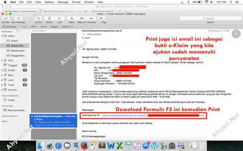 email bpjs ketenagakerjaan cara klaim jaminan hari tua jht melalui eklaim