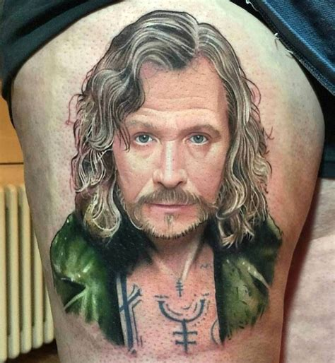 people tattoo with harry potter and sirius black