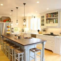long kitchen island ideas 1000 ideas about long narrow kitchen on pinterest