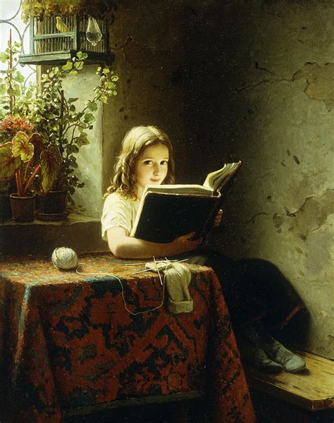 a reading painting by johann georg meyer