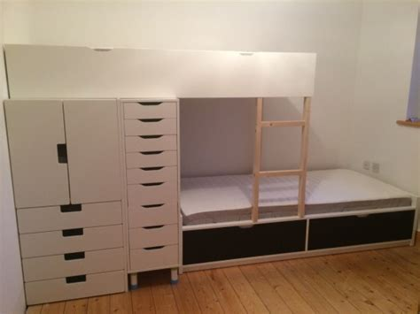 loft bed hacks flaxa bunk bed with lots of storage ikea hackers ikea